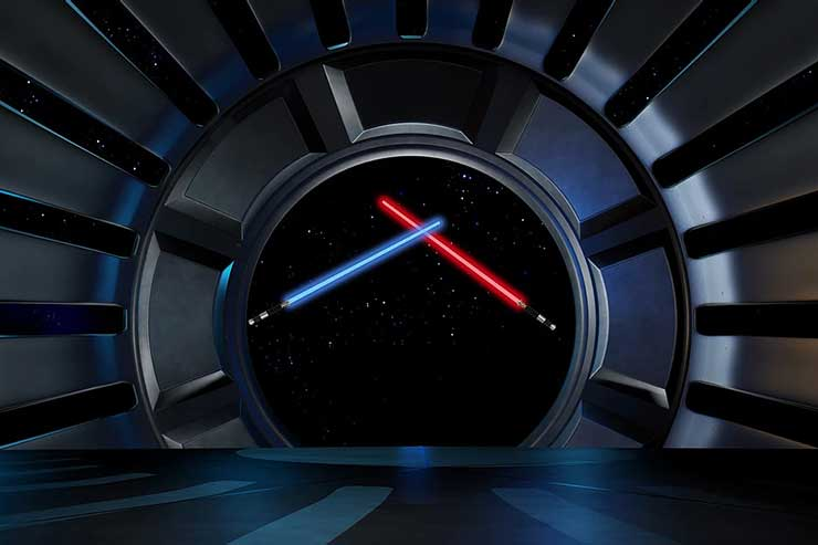 Lightsaber in space environment