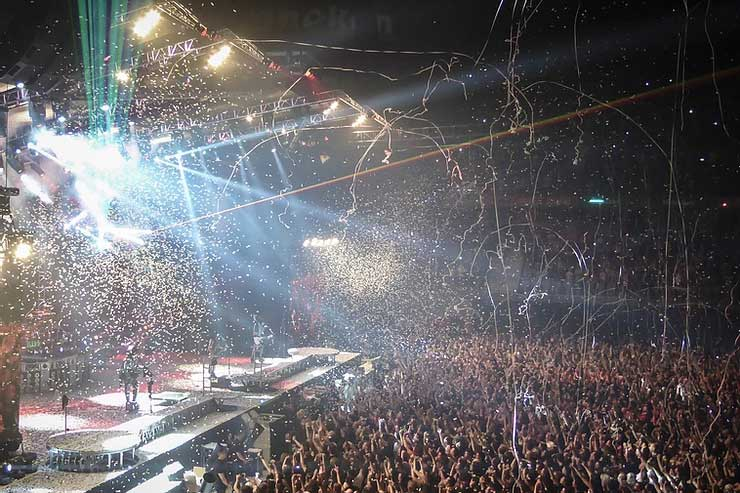 Concert goes enjoying a live concert