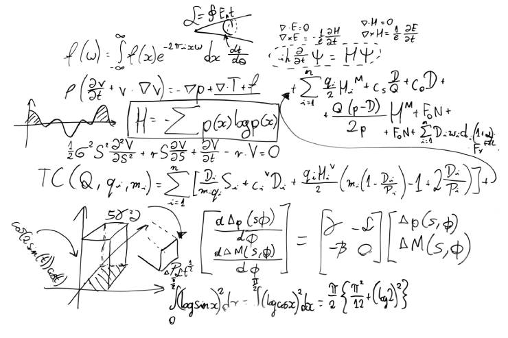 numerous math equations