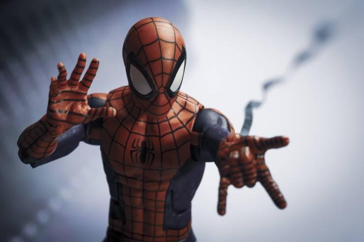 Spiderman shooting a web