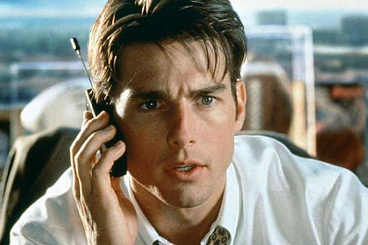 Jerry Maguire played by Tom Cruise is a glossy 35-year-old sports agent working for Sports Management International