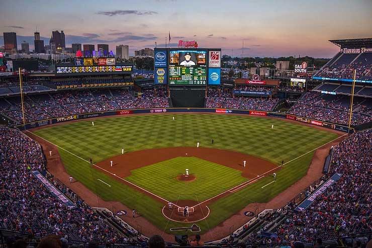 Turner Field in Atlanta, GA, Home of the Braves. Major League Baseball