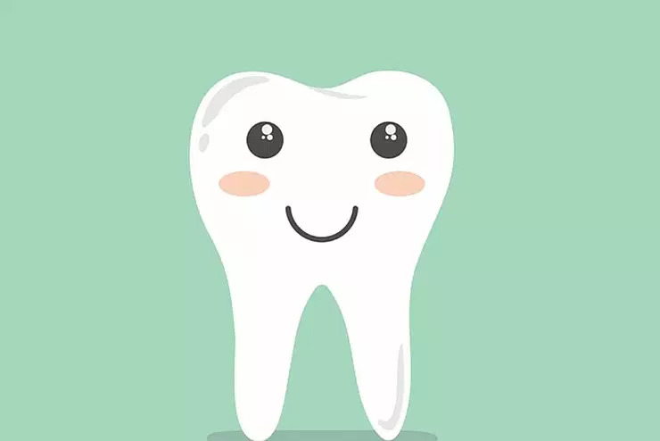 Cartoon image of a smiling tooth