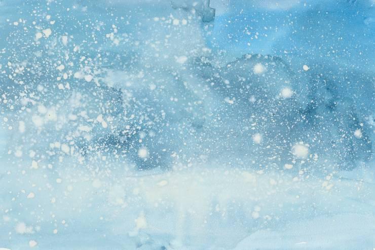 a whiteout snowstorm