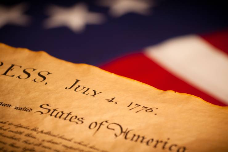 Declaration of Independence[a] is the pronouncement adopted by the Second Continental Congress meeting in Philadelphia, Pennsylvania, on July 4, 1776.