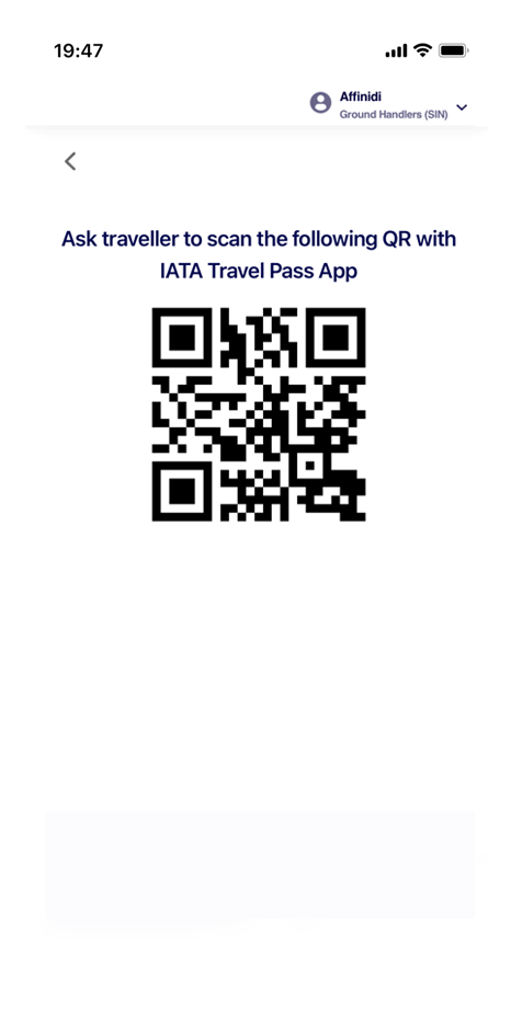 Sharing of Credentials from IATA Travel Pass Supported