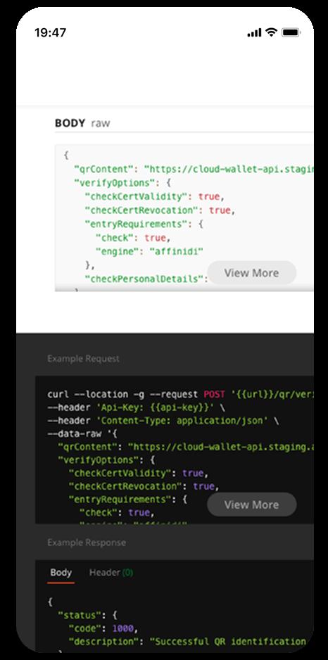 Affinidi's Travel Web-Based Solution API