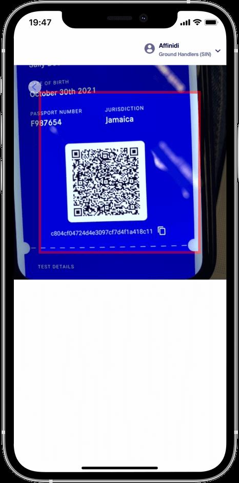Scan the verifiable QR for authentication