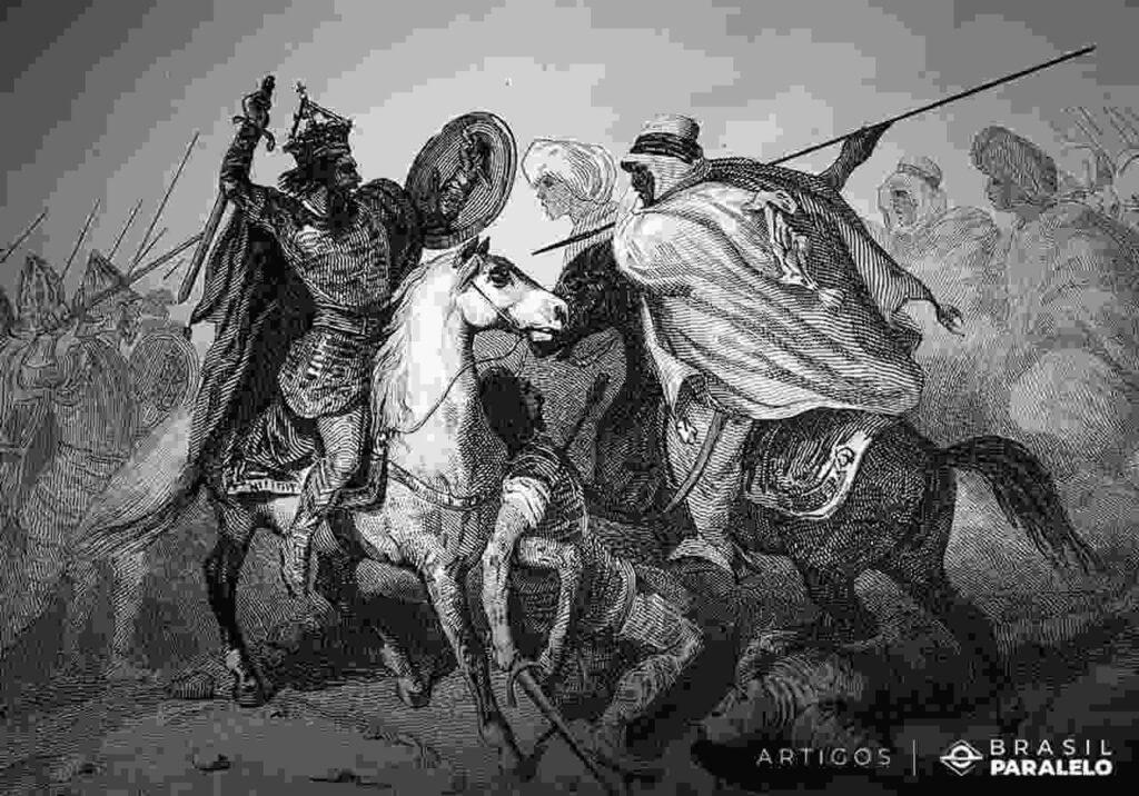 Muculmanos-guerreando-contra-cristaos-na-peninsula-iberica
