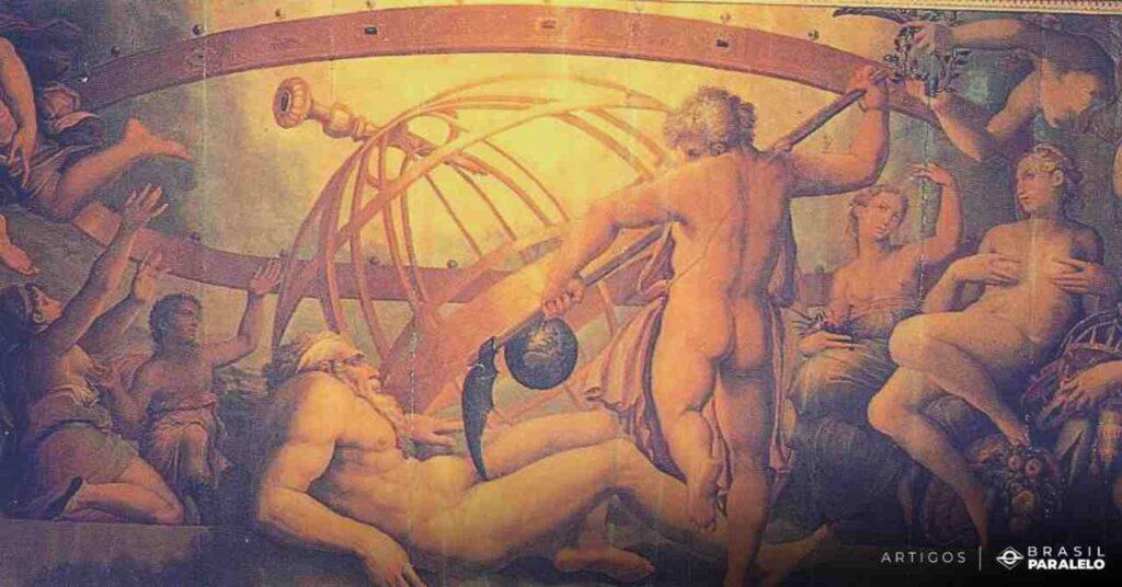 Cronos-decepando-Urano