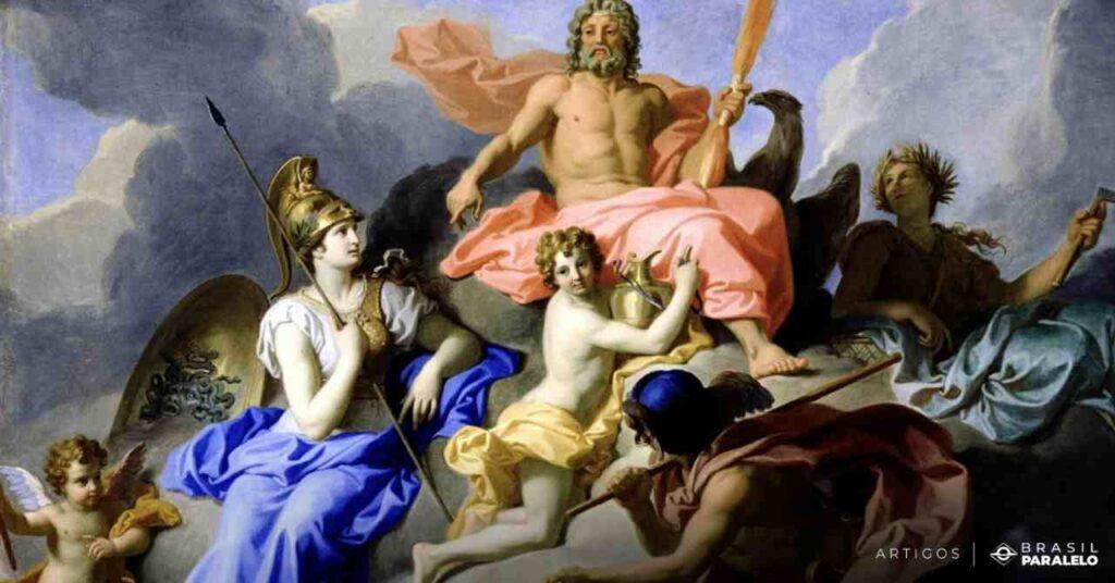 Zeus-com-os-raios-governando-o-Olimpo