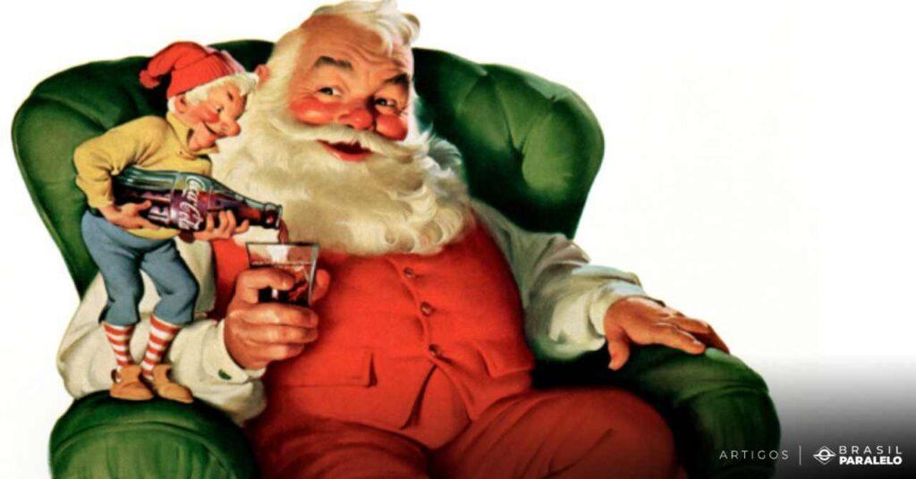 Papai-Noel-de-Sundblom-oleo-sobre-tema