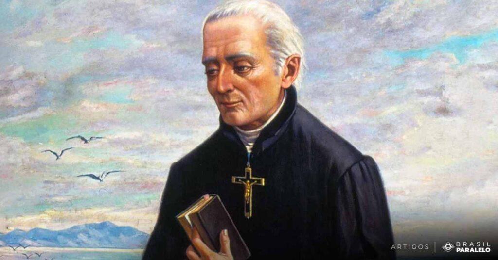 Padre-jose-de-Anchieta-um-dos-jesuitas-a-catequisar-os-indios-no-brasil-colonial