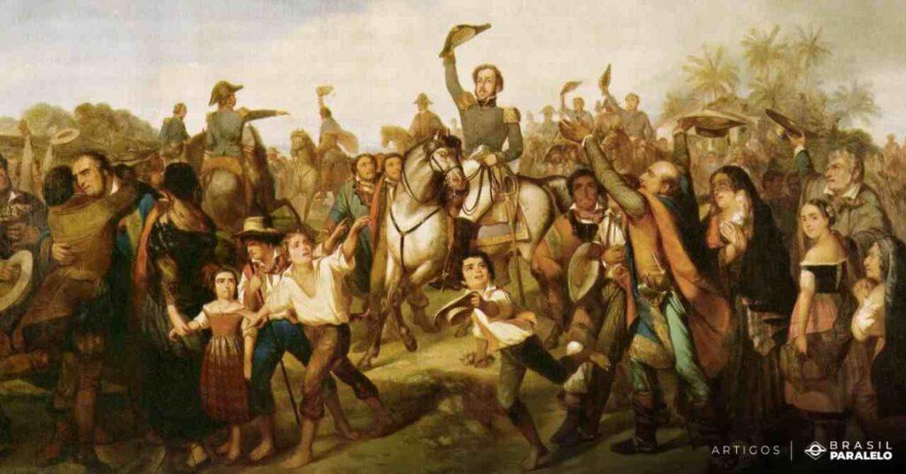 Dom-Pedro-gitou-independencia-ou-morte-perto-do-rio-ipiranga
