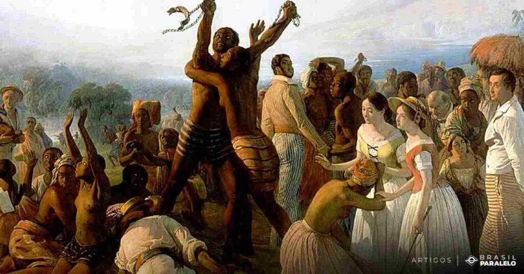 Abolicao-da-escravatura-com-a-lei-aurea-assinada-pela-princesa-Isabel