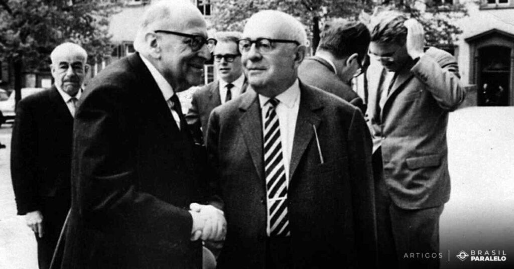 Principais-pensadores-da-Escola-de-Frankfurt-como-Adorno-e-Horkheimer