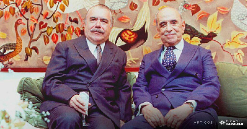 Roberto-Marinho-ao-lado-de-Jose-Sarney