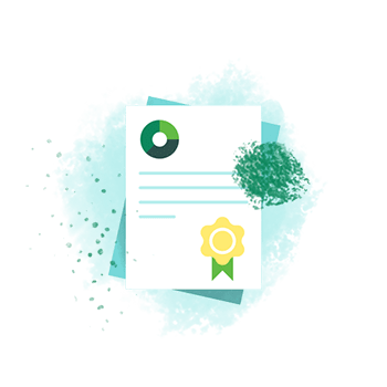 Financial documents illustration