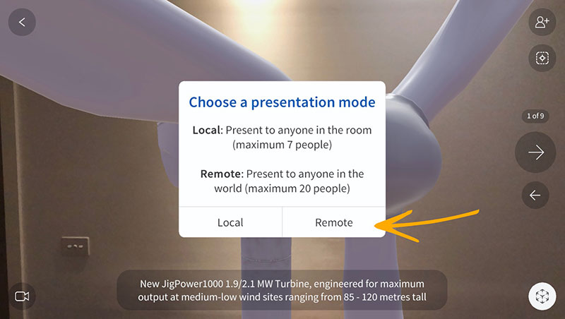 Remote-AR_2_Choose-Presentation-Mode_Jig-Workshop_Wind-Turbine-1