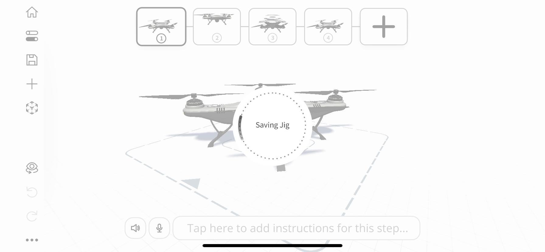 Saving Jig loading indicator