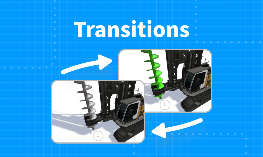 Transitions between Steps