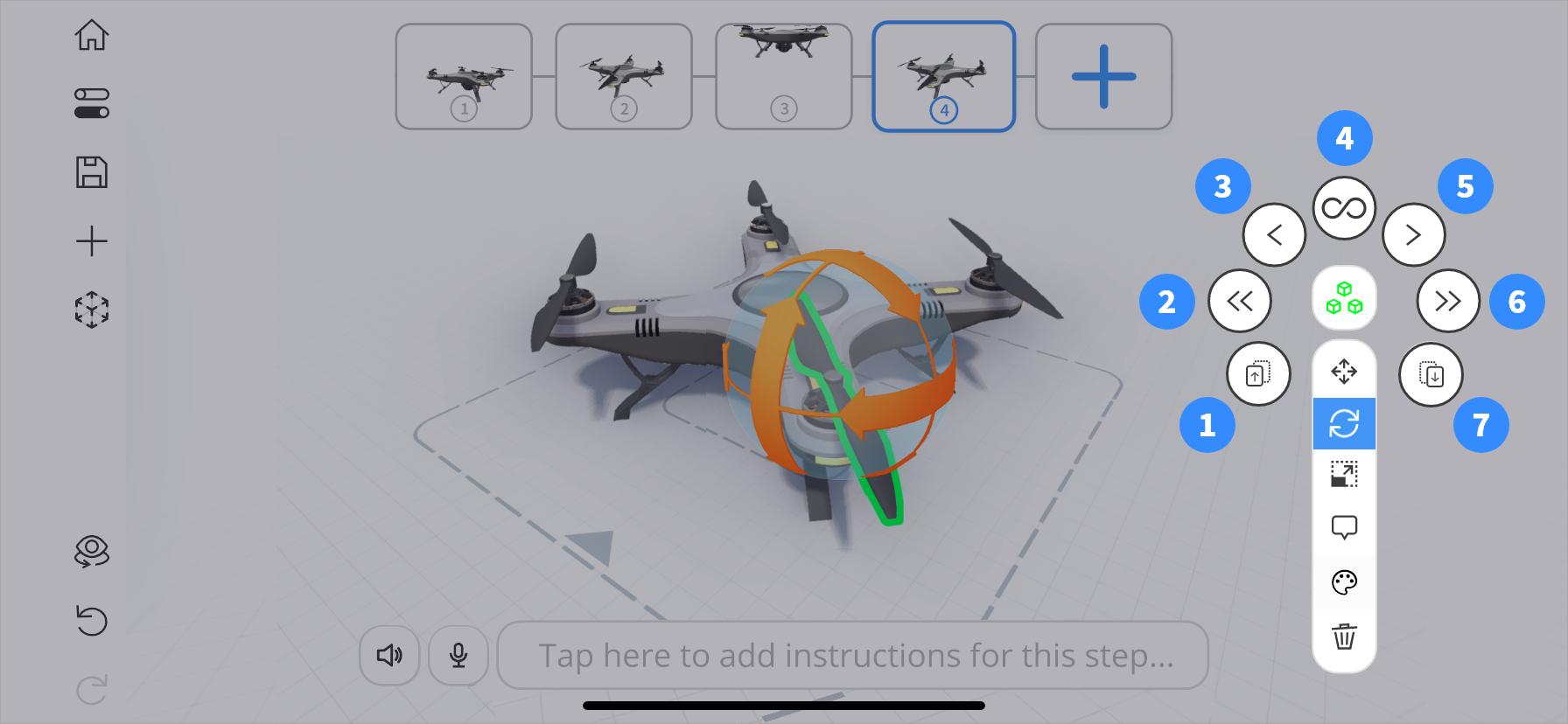 Opened replicate tool in JigSpace app