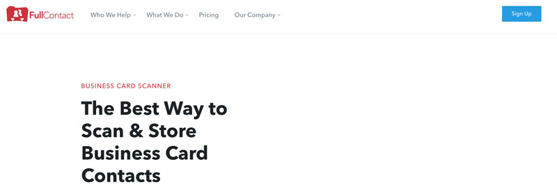 FullContact Card Reader