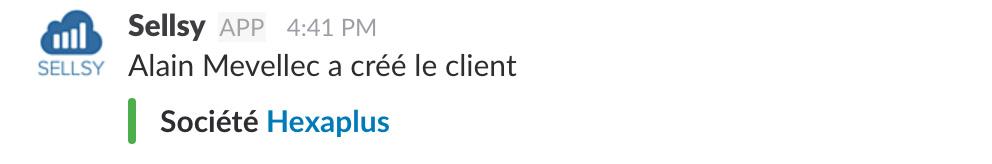 Slack nouveau client créé
