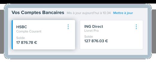 Une seule interface pour tous vos comptes bancaires