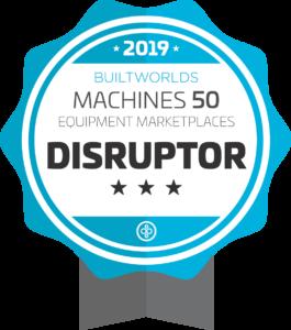 Equipment Marketplaces DISRUPTOR award