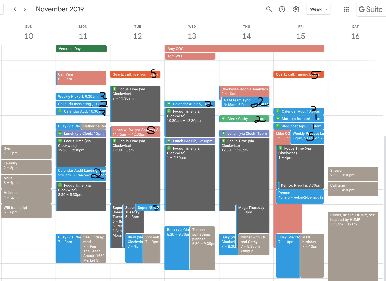 Calendar audit example