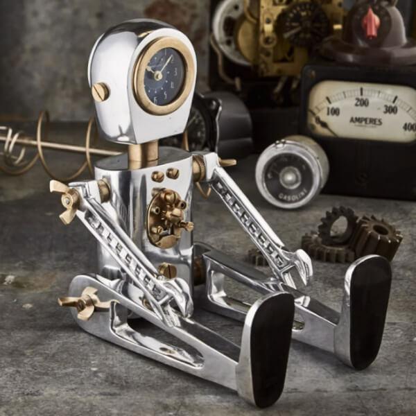 A curious robot.