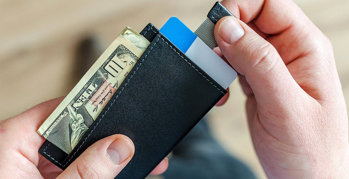 A wallet in two hands