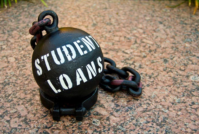 A ball and chain with Student Loans