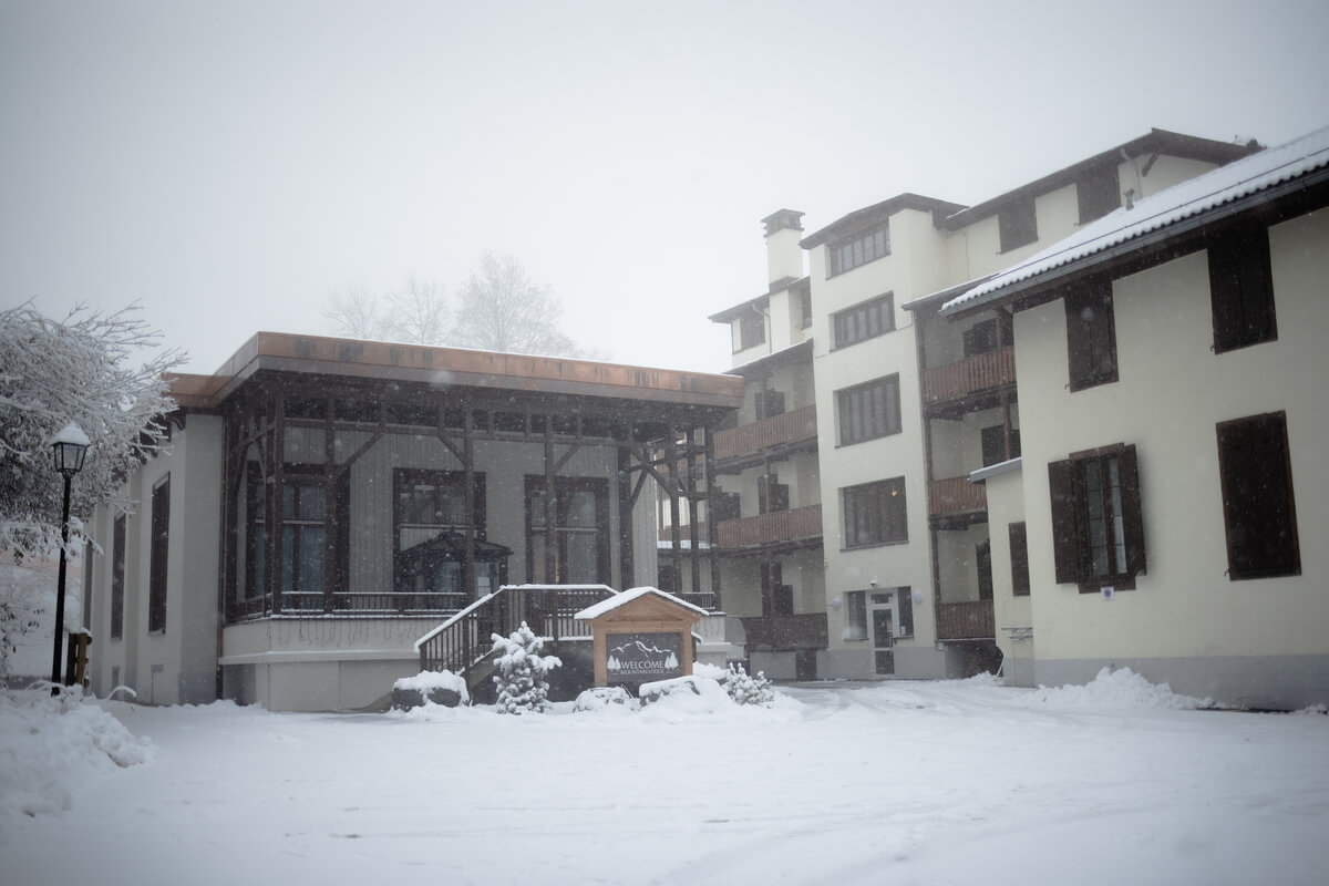 Snow view of the outside