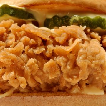 Ch'King sandwich, close-up.