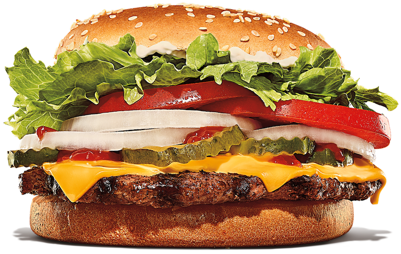 Whopper sandwich with cheese.