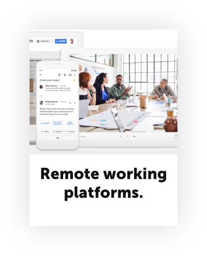 Stay at home economy remote working platforms