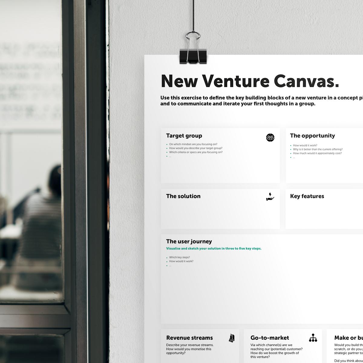 new venture canvas header