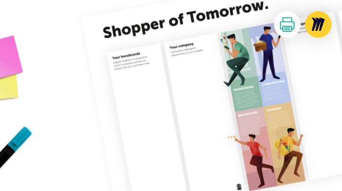 Shopper of tomorrow canvas