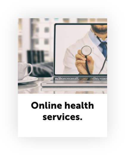 Stay at home economy online health services