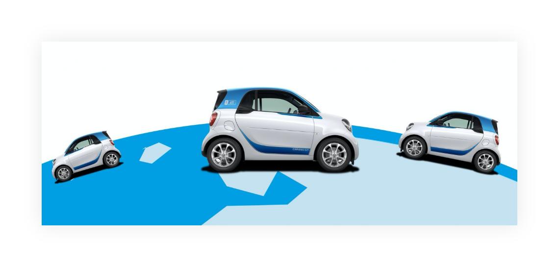 Header product information Car2GO