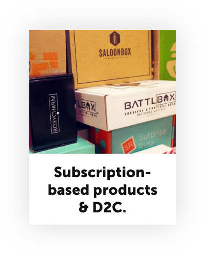 Stay at home economy subscription based products and D2C