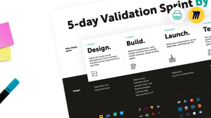 Innovation validation sprint canvas