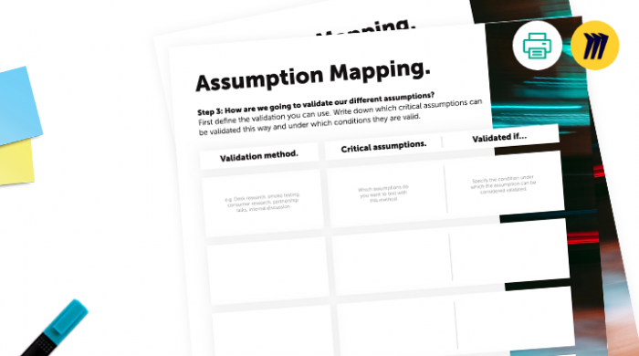 Assumption mapping canvas