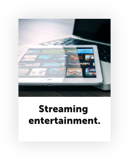 Stay at home economy streaming entertainment