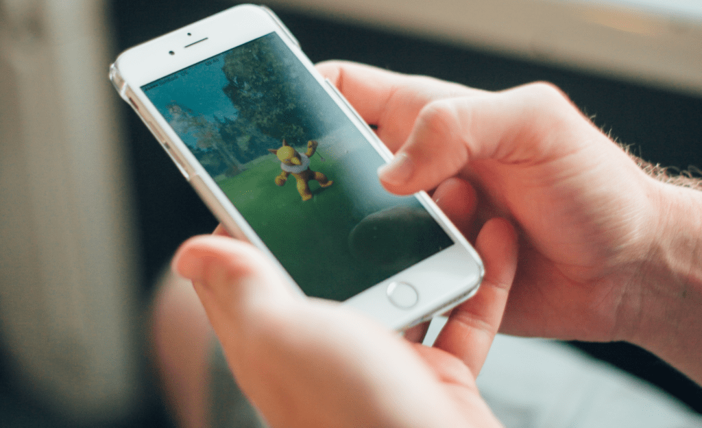 Someone looking at pokémon go