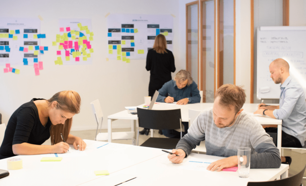Employees putting validation techniques into practice
