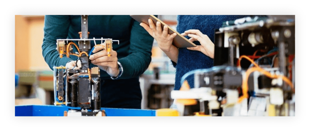 Employees working at Samsung's C-Lab