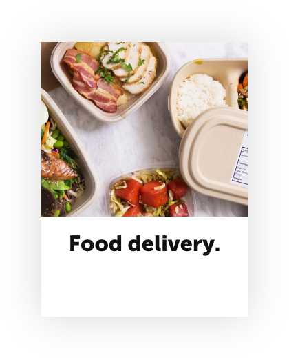 Stay at home economy food delivery